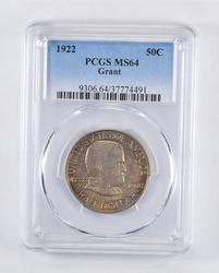 MS64 1922 Ulysses S. Grant Commem. Half Dollar - Rainbow Toned - PCGS