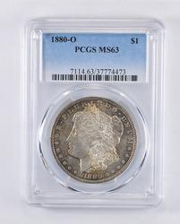 MS63 1880-O Morgan Silver Dollar - Toned - Graded PCGS