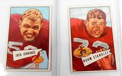 2 Early Bowman 1952 Football Cards