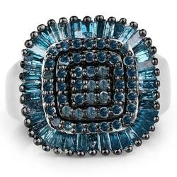 Fancy 1+ CTW Blue Diamond Cocktail Ring