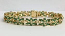 Lavish 10.0 Carat Emerald & Diamond Bracelet