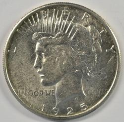 Well struck and lustrous 1925-S Peace Silver Dollar