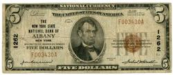 Series of 1929 $5 National of Albany, New York (1262)