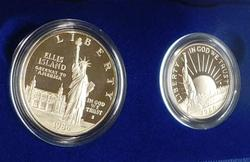 1986 Silver 2 pc PROOF Liberty Set