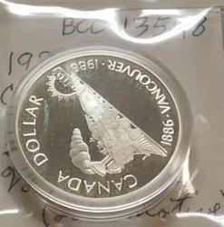 1986 PROOF Canada Silver Dollar - Vancouver