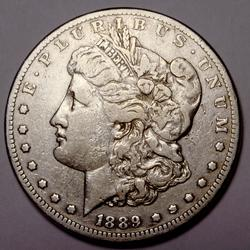 1889 CC Morgan Silver Dollar From a Complete Set Without The 1895