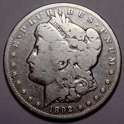 1892 CC Morgan Silver Dollar From a Complete Set Without The 1895