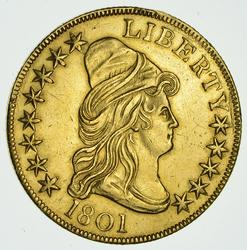 1801 $10.00 Capped Bust Gold Eagle - Rare