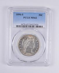 MS62 1896-S Barber Half Dollar - PCGS Graded
