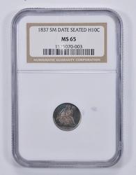 MS65 1837 Seated Liberty Half Dime - NGC Graded