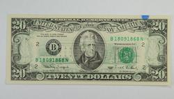 Series Error- 1990 $20.00 Federal Reserve Note - Offset Printings
