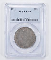 XF45 1818 Capped Bust Half Dollar - PCGS Graded