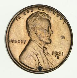 1931-S Lincoln Wheat Cent - Circulated
