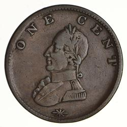 Undated 18th Century Washington Double Head Cent