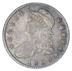 1820 Capped Bust Half Dollar - Large Date With Knob - Circulated
