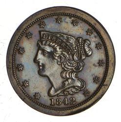 1842 Braided Hair Half Cent - PROOF - Rare