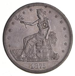 1875-CC Seated Liberty Silver Trade Dollar - Chop Mark
