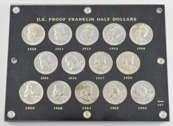 Lot (14) 1950-1963 Franklin Half Dollars - Proof