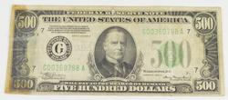 1934-A $500 Federal Reserve Note - Chicago