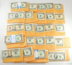 Lot - $3580 Face Value Various U.S. Currency - Mostly Consecutive