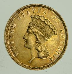 1859 Indian Princess Head Three-Dollar Gold Piece $3.00