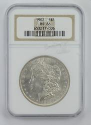 MS66 1902 Morgan Silver Dollar - Graded NGC