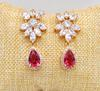 Beautiful Pink Gemstone Earrings