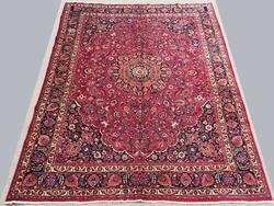 Stunning Mid 20th C. Authentic Handmade Vintage Persian Rug, Signed