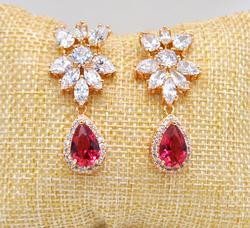 Beautiful Pink Gemstone Earrings