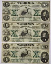 Three Matching CU $10 VA Treasury Notes, Same Sheet A,B,D