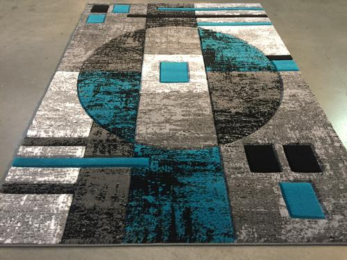 Eye Catching &hand Carved Colorful Contemporary Rug 8x6