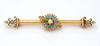 Vintage Seed Pearl & Turquoise Brooch