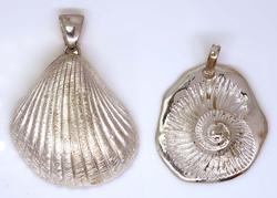 Two Large Shell Pendants