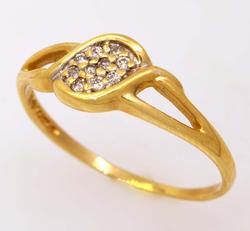 Diamond Pave Ring in Gold, Size 8