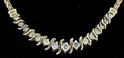 Gorgeous Diamond S Link Necklace