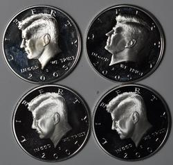 2 Each Silver Proof 2005 S and 2007 S Kennedy Halves