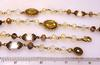 Opal Glass & Pearls Bronze Coin Necklace