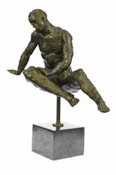 Male with Chess Design Outfit Bronze Sculpture