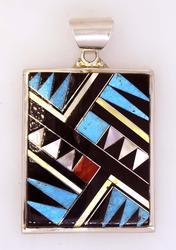 Multi-Colored Native American Pendant, New
