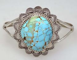 Free Form Royston Turquoise Stone Ring, Navajo, New