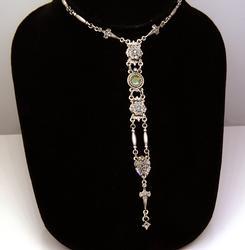 Art Deco Starlight Silver Y Necklace