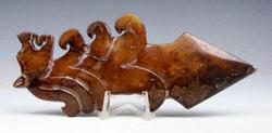 Jade Nephrite Carved Dragon Head Arrow Sculpture