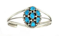 Gorgeous Navajo Turquoise Sterling Silver Bracelet