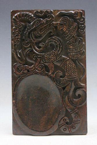 Jade Stone Nephrite Ink Slab Paperweight