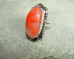 Exceptional Color Natural Stone Ethnic Handcrafted Ring