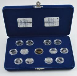 1992 Canada 125th Anniversary 13 Coin Proof Set - With Box & Paper