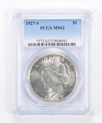 MS62 1927-S Peace Silver Dollar - Graded PCGS