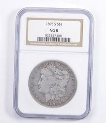 VG8 1893-S Morgan Silver Dollar - Graded NGC