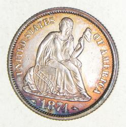1874 Seated Liberty Dime