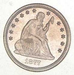 1877-CC Seated Liberty Quarter